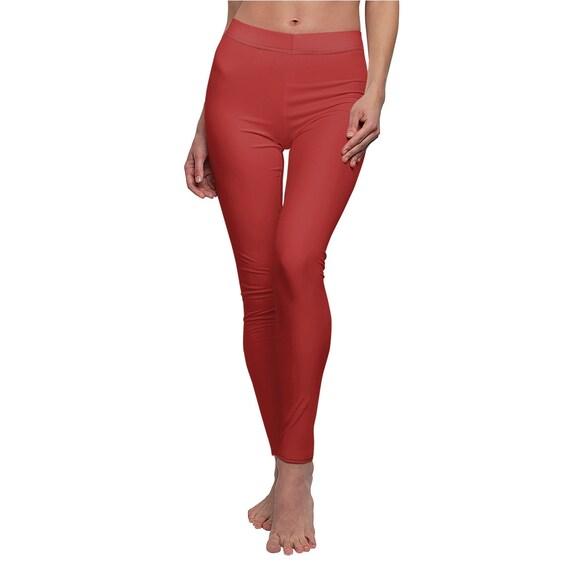 Women's True Red Skinny Casual Leggings