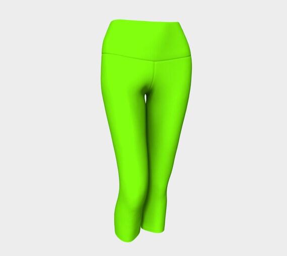 Chartreuse Yoga Capris