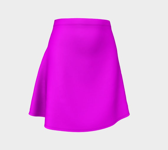 Magenta Flare Skirt