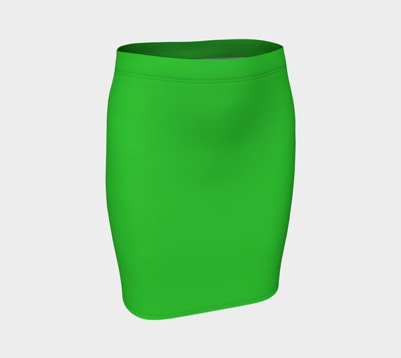 Lime Fitted Skirt