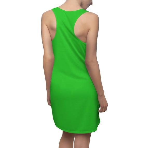 Lime Racerback Dress