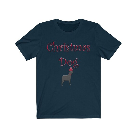 Unisex Christmas Dog Jersey Short Sleeve Tee