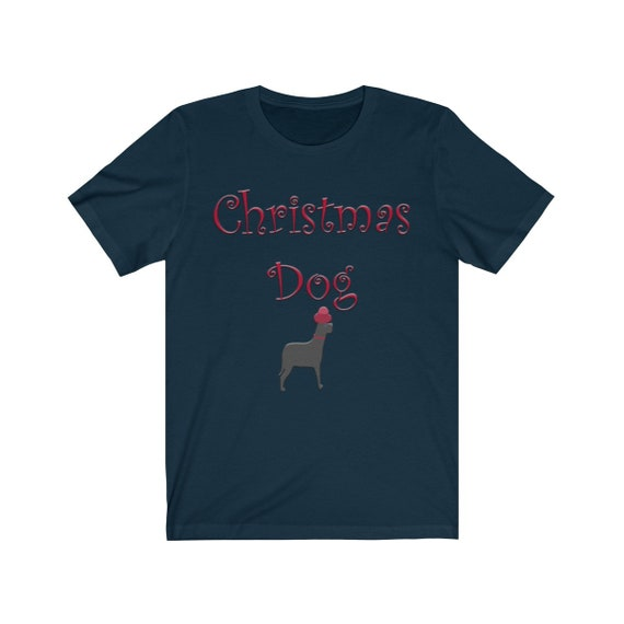 Unisex Christmas Dog Jersey Short Sleeve Tee