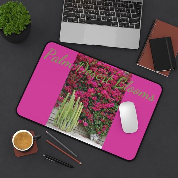Palm Desert Blooms Desk Mat