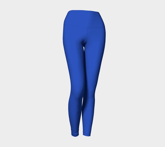 Cerulean Blue Yoga Leggings