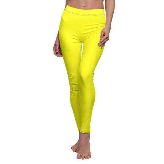 Women's Yellow Skinny Casual Leggings