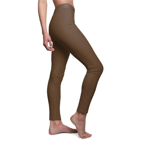 Women's Deep Dark Brown Skinny Casual Leggings