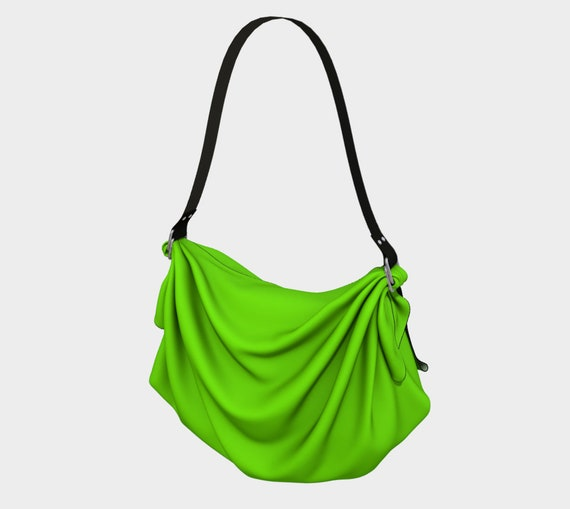 Chartreuse Origami Tote