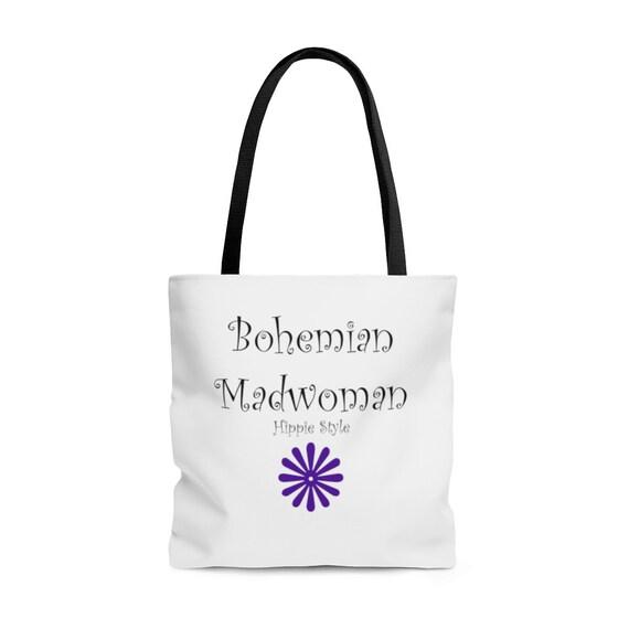 Bohemian Madwoman Hippie Style - AOP Tote Bag