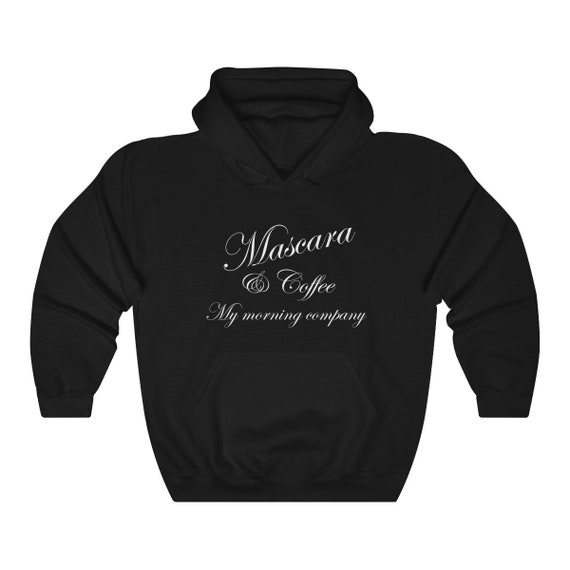 Mascara & Coffee Unisex Heavy Blend Hooded Sweatshirt