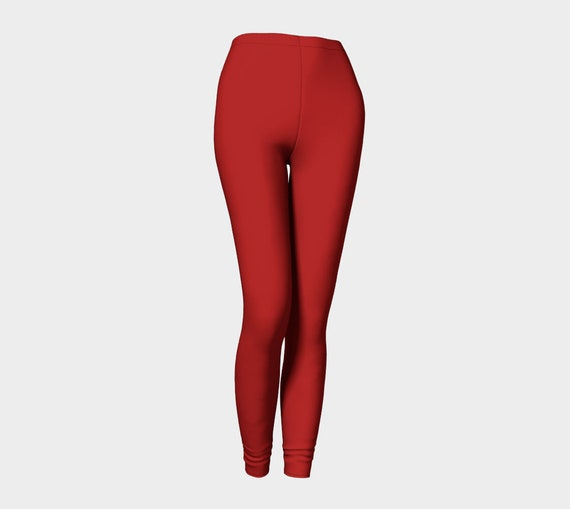 Bohemian Madwoman Christmas Red Leggings