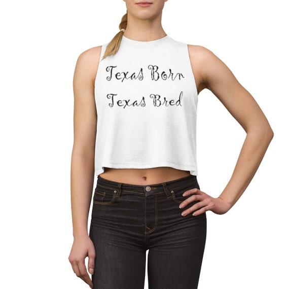 Texas Born  - Women's Crop top
