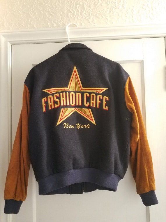 Fashion Cafe Bomber Jacket with Suede and lined