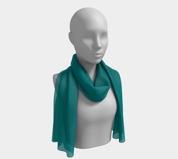 Teal Long Scarf