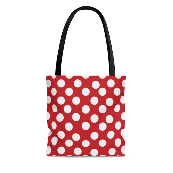 Red with White Polka Dots - Tote Bag