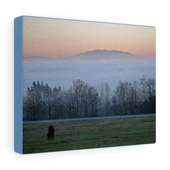Foggy Sunset Canvas Gallery Wraps