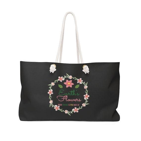 Earth's Flowers Signature Logo Design Weekender Bag