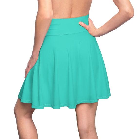 Women's Turquoise Skater Skirt