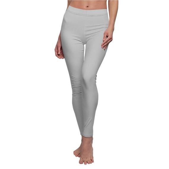 Women's Silver Skinny Casual Leggings