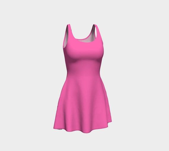 Hot Pink Flare Dress