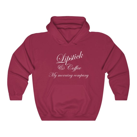 Lipstick & Coffee Unisex Heavy Blend Hooded Sweatshirt