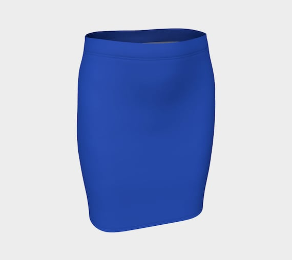 Cerulean Blue Fitted Skirt