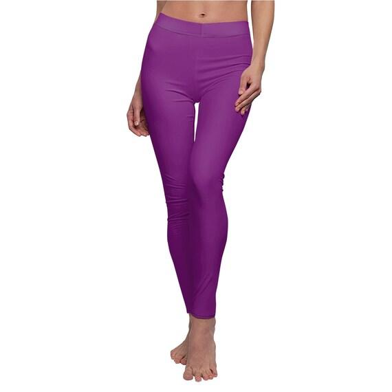 Women's True Purple Skinny Casual Leggings