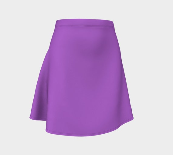 Deep Lilac Flare Skirt