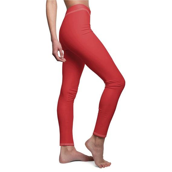 Flame Scarlet Skinny Casual Leggings