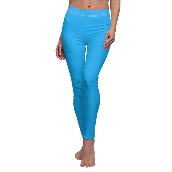 Women's Deep Sky Blue Skinny Casual Leggings