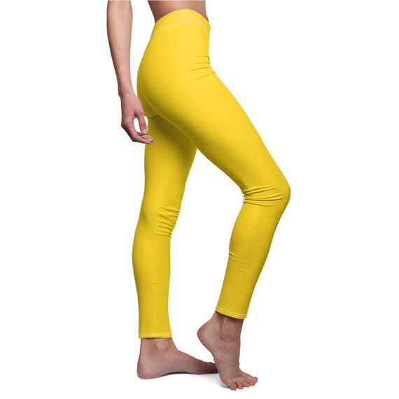 Women's Gold Yellow Skinny Casual Leggings