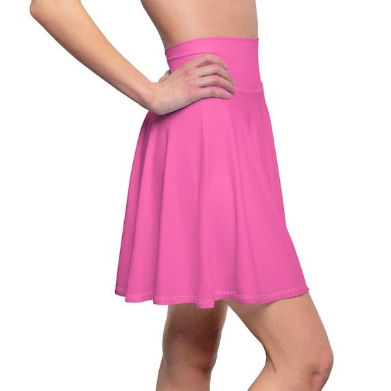 Women's Hot Pink Skater Skirt