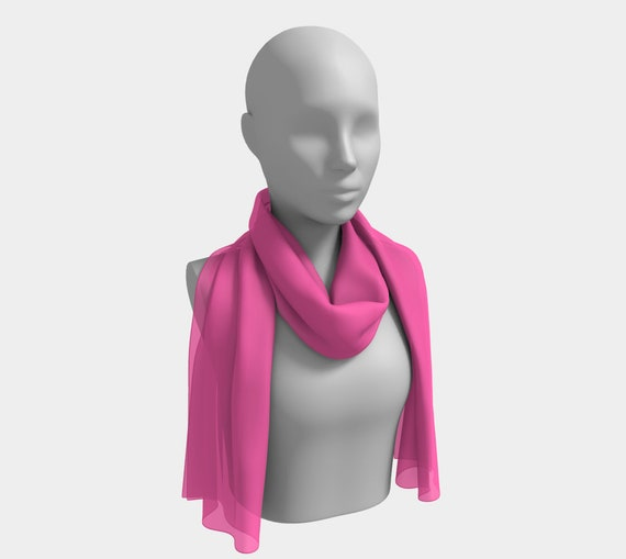 Hot Pink Long Scarf