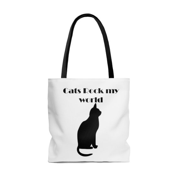 Cats Rock My World - AOP Tote Bag