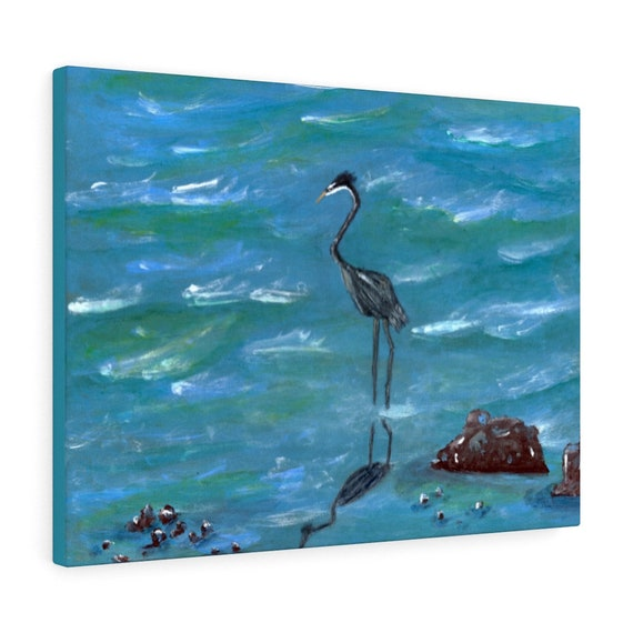 Heron Canvas Gallery Wraps