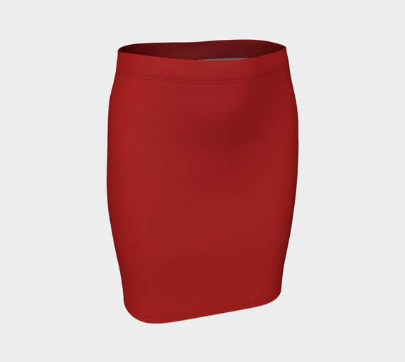Christmas Red Fitted Skirt