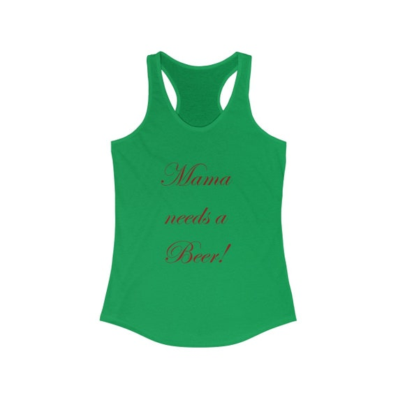 Mama needs a beer red lettering - Women's SLIM FIT