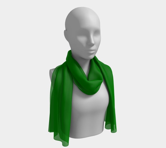 Plain Jane Green Long Scarf