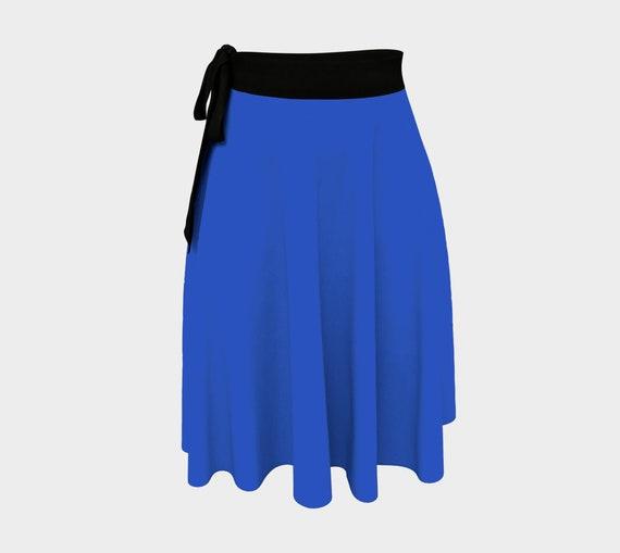 Cerulean Blue Wrap Skirt