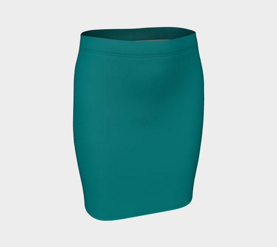 Teal Fitted Skirt