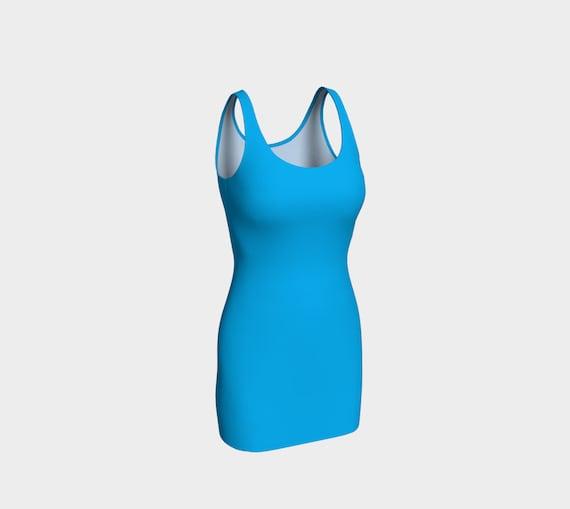 Deep Sky Blue Bodycon Dress