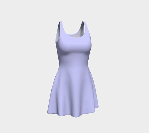 Periwinkle Flare Dress