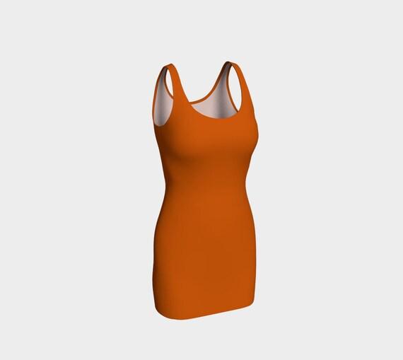 Burnt Orange Bodycon Dress