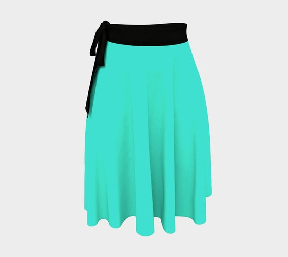 Turquoise Wrap Skirt