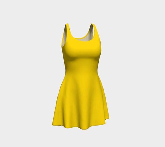 Gold Flare Dress