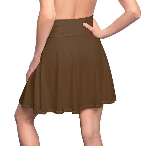 Women's Brown Skater Skirt