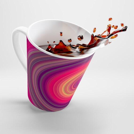 Circles Latte mug