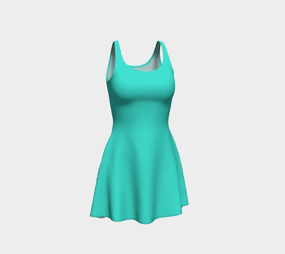 Turquoise Flare Dress