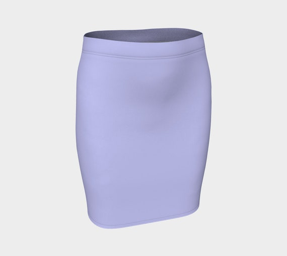 Periwinkle Fitted Skirt
