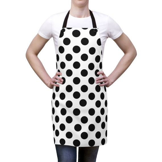 Black Polka Dot Apron